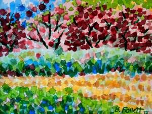 Plum Trees in Spring