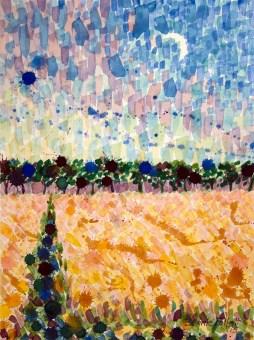 Wheat Fields at Dusk