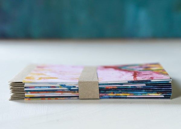 abstract painting artist cards