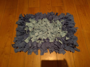 Front of DIY Snuffle Mat for dogs