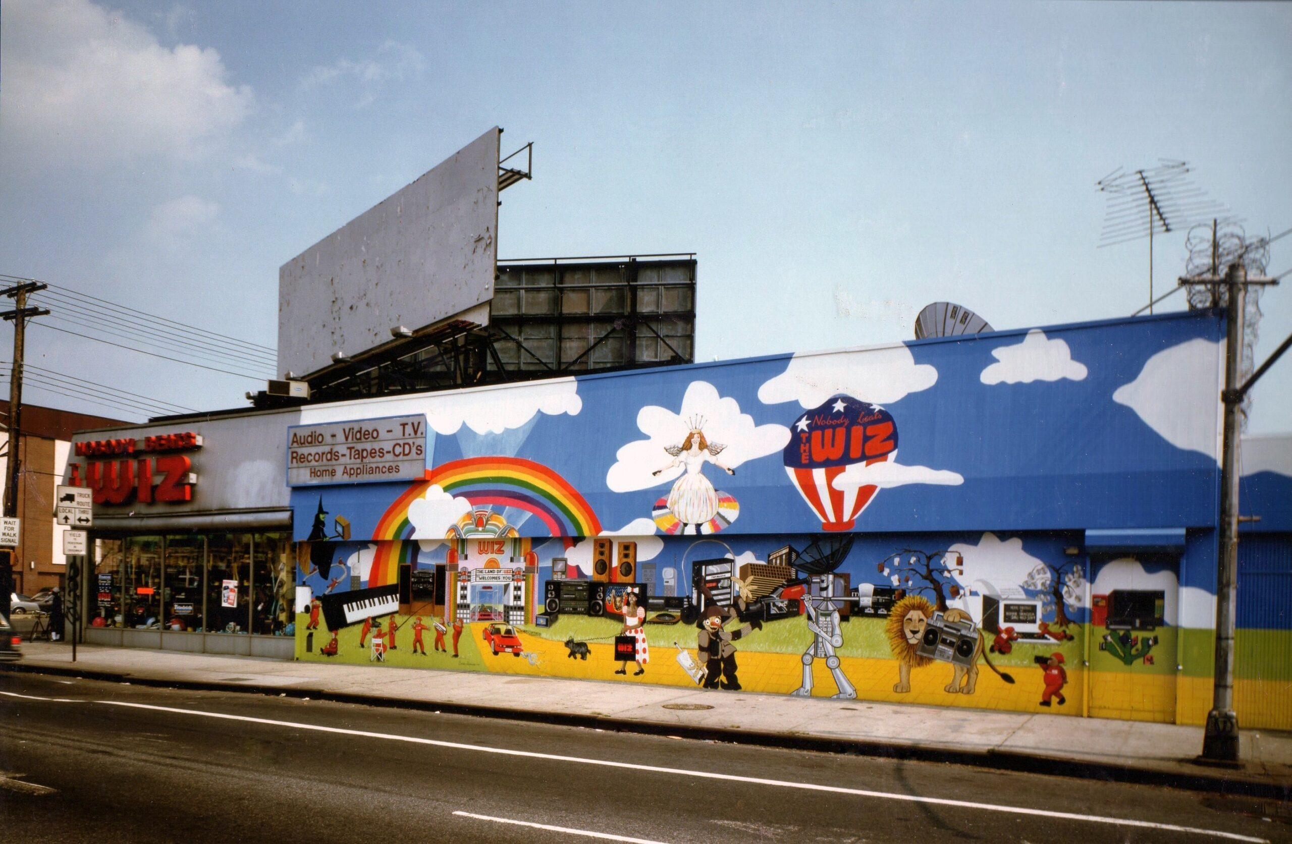 Nobody Beats The Wiz Mural In Brooklyn New York