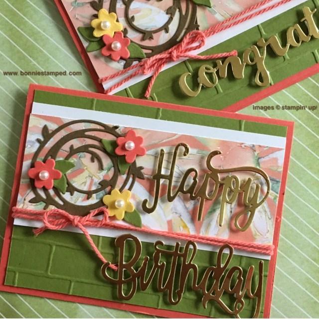 #happybirthdaythinlits #swirlyscribbles #delightfuldaisydsp #brinkembossingfolder #thickcord #bonniestamped #stampinup