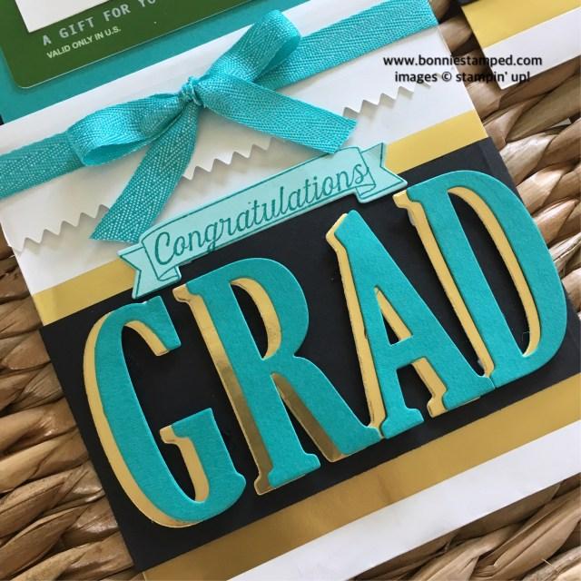 #graduation #giftcardholders #bonniestamped #largeletters