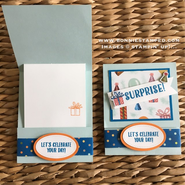#birthdaymemoriessuite #bithdaydelivery #birthdayfriends #bonniestamped #funfoldedcard #stampinup