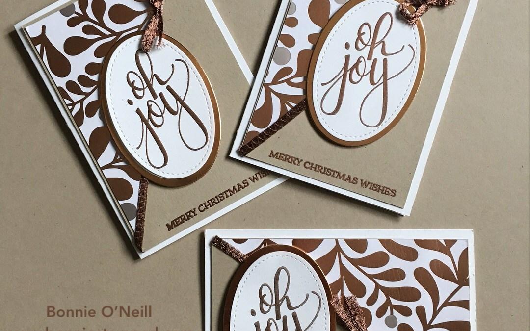 Oh Joy! Copper Foil Note Card