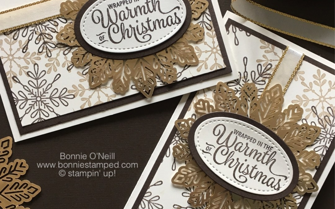 Holiday Stamp-a-Stack Foil Snowflake Card