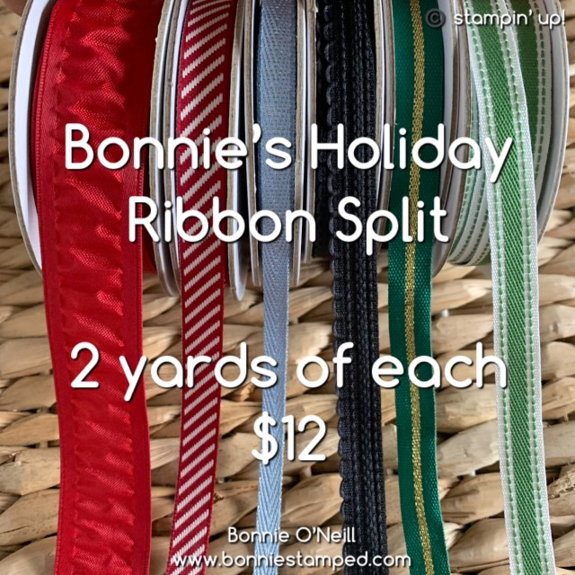 Holiday Ribbon Split with Bonnie