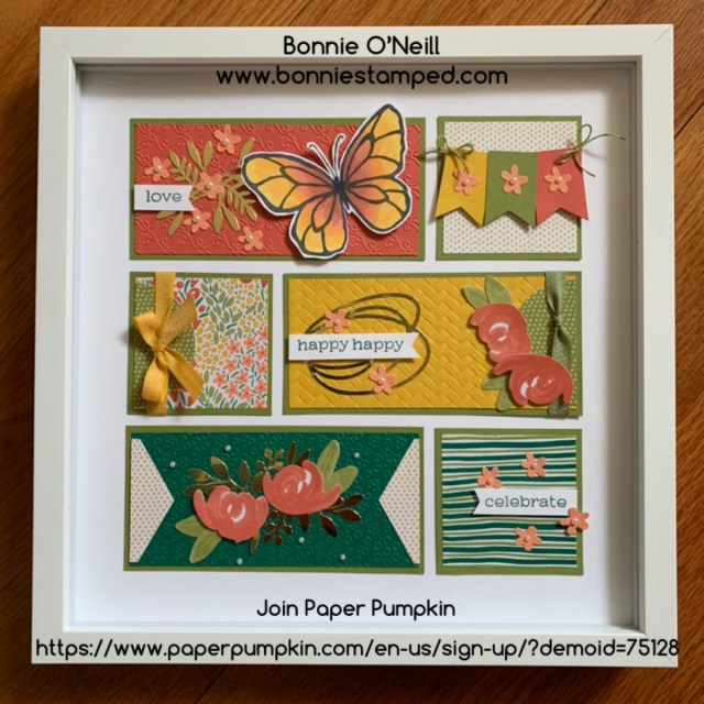 Bonnie's Paper Pumpkin Framed Art
