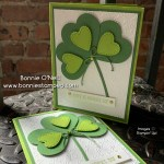 Making clovers from heart punch