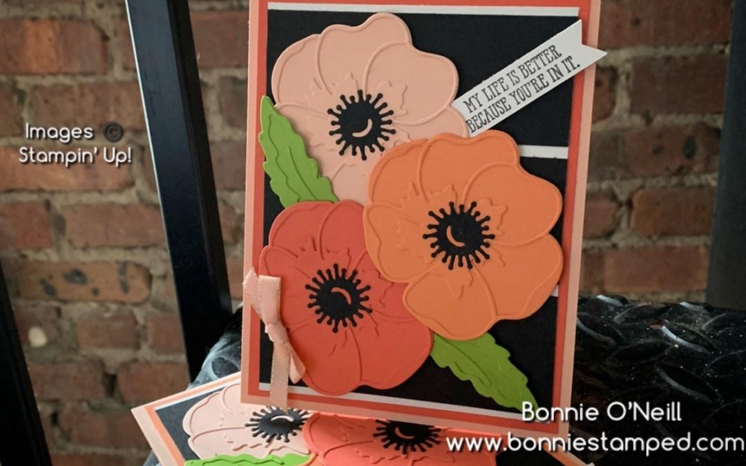 Trio of Poppy Moments Flowers