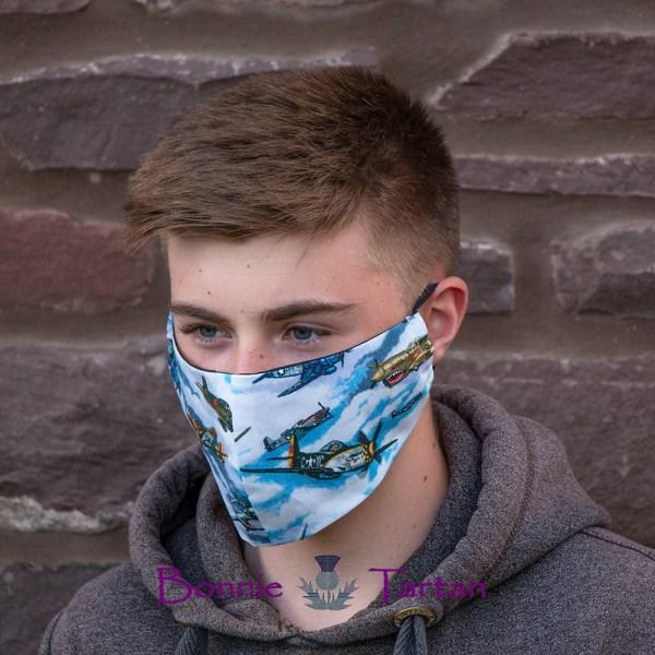 Child Fighter Plane Face Mask