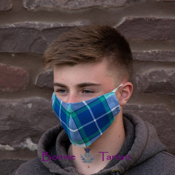 Bonnie Royal Tartan Face Mask