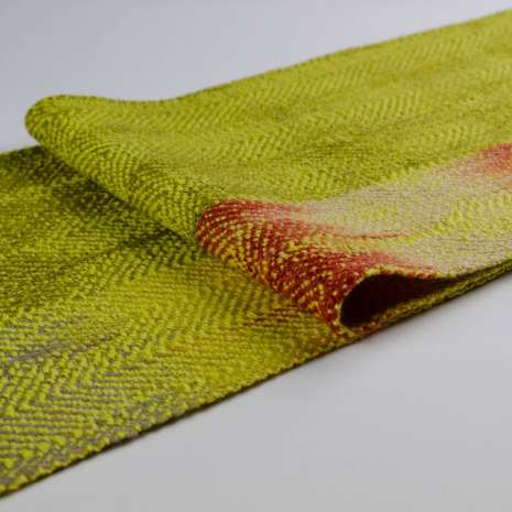 Bonny Claith Autumn Leaves scarf olive yellow-0138-min