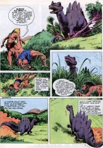 """Rahan, épisode """"Le monstre d'un autre temps"""" Lécureux et Chéret 1978"""