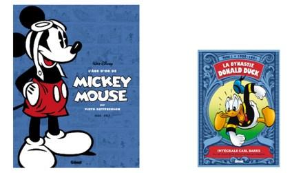 """""""L'âge d'or de Mickey Mouse 1"""" & """"La Dynastie Donald Duck 1"""" chez Glénat"""