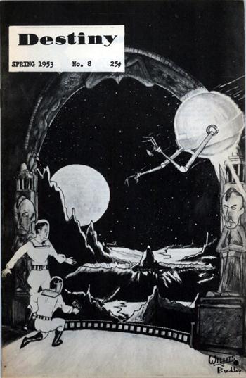 """""""Destiny"""" #8 1953, fanzine de Malcolm Willits, découvreur de Carl Barks, créateur """"anonyme"""" de Picsou"""