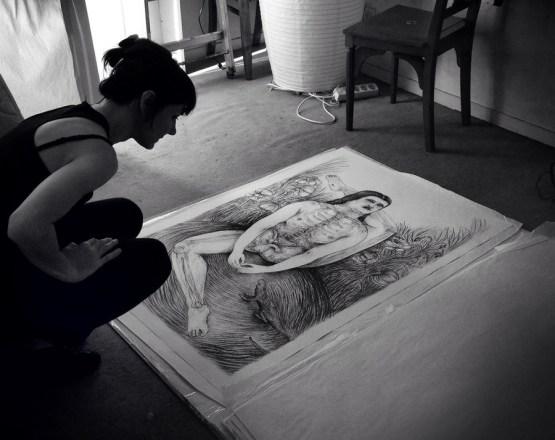 Céline Guichard - Le rangement des grands dessins - Photo Alain François
