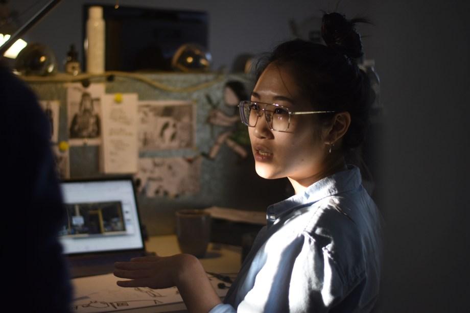 Gracey Zhang dans son atelier