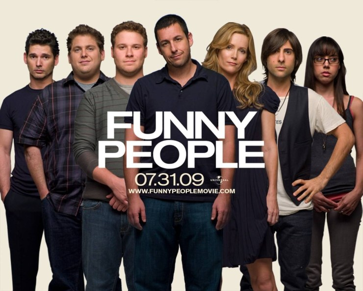 funny people promotional poster - who makes the better movies