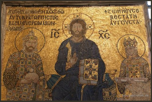 Konstantin IX and his wife Zoe