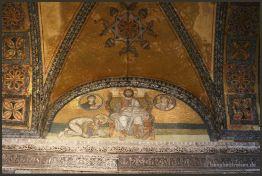Leon VI kneeling