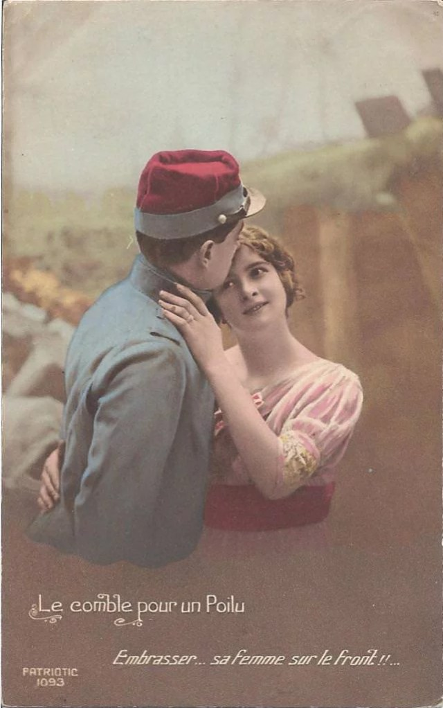 carte postale pendant la guerre
