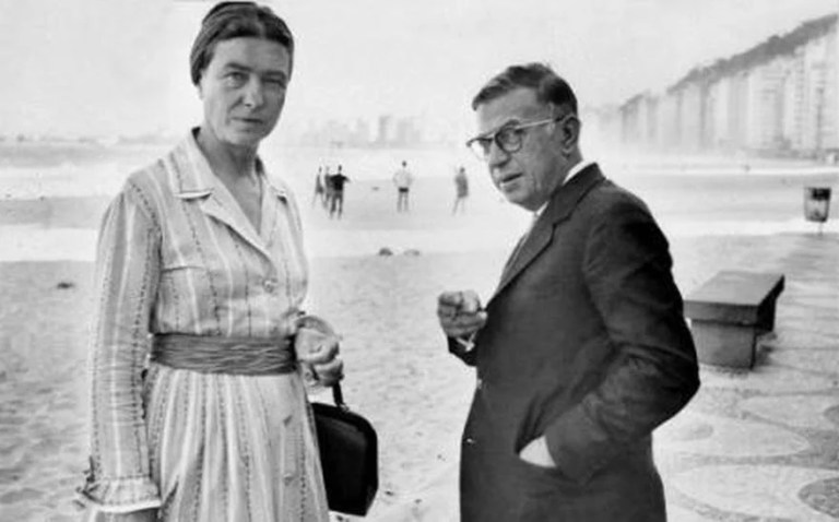 couple d'intellectuels Sartre et de beauvoir