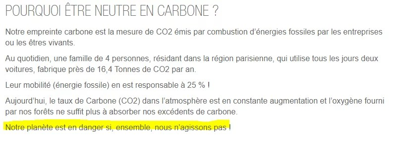 neutralité carbone et greenwashing de total