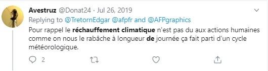 part de l'Homme dans le réchauffement climatique : remise en cause d'un tweetos