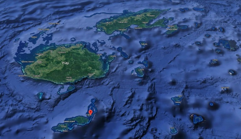 Les îles Fidji en image satellite
