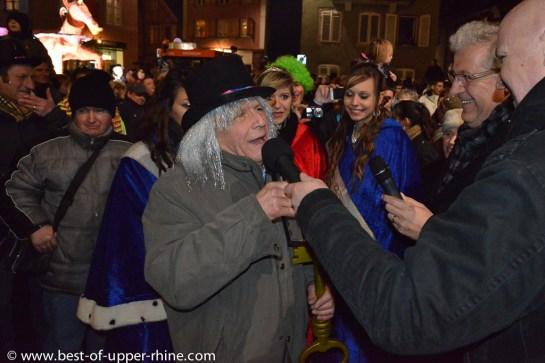 Carnaval de Sélestat, Alsace. Remise des clés de la ville aux