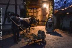 Travail à la ferme. Ecomusée d'Alsace.