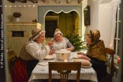 Alsaciennes réunies pour la veillée.
