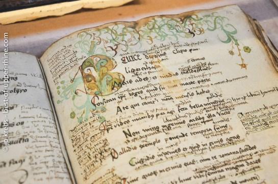 Cahier d'écolier de Beatus Rhenanus.
