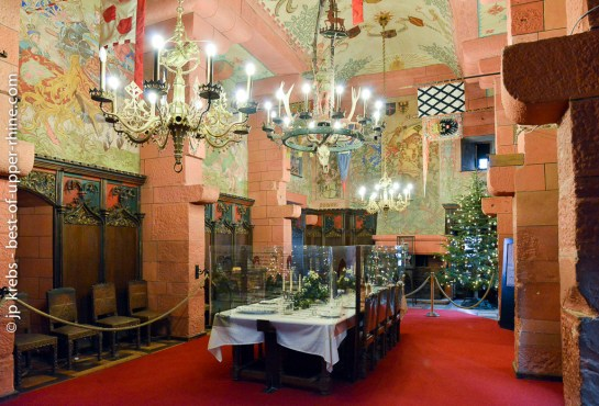 Salle de banquet du château du Haut-Koenigsbourg