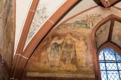 Hunawihr fresques du XVe siècle. Saint Nicolas est choisi pour être le nouvel évêque de la ville de Myre en Asie mineure.