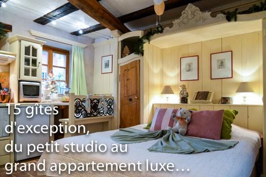 Le Refuge du Lutin, petit studio romantique pour 2 pers dans les remparts de Riquewihr.