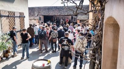 Ambiance rock et jazz dans la cour du Domaine Boeckel