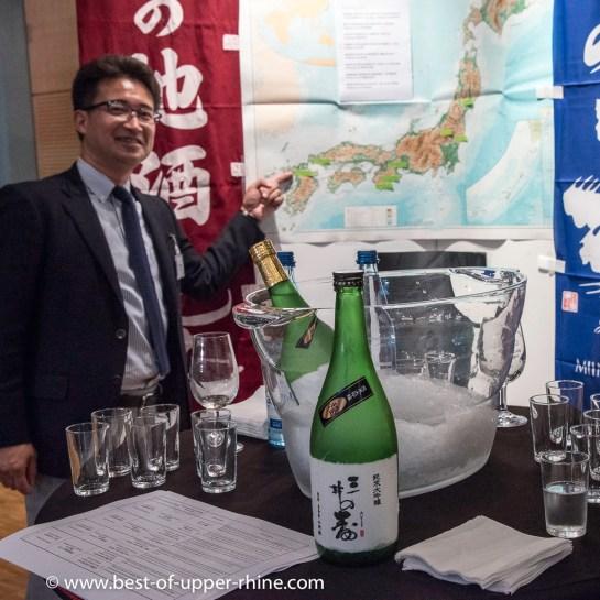 8 producteurs de grands saké avaient spécialement fait le voyage depuis le Japon.