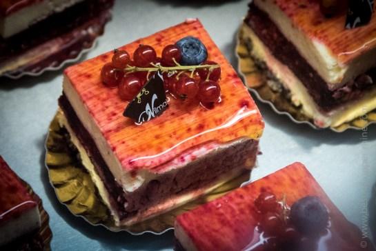 Plusieurs desserts étaient proposés pour clôturer le repas.