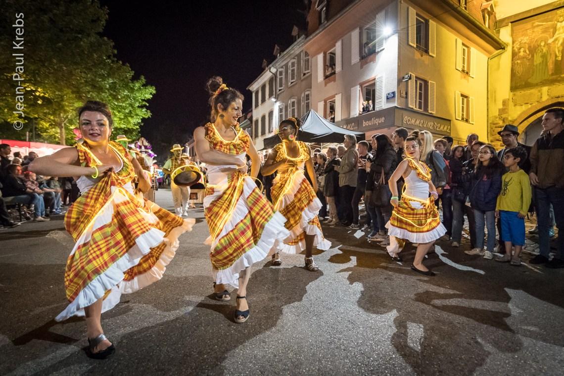 Sélestat, Corso Fleuri 2017. Défilé nocturne.