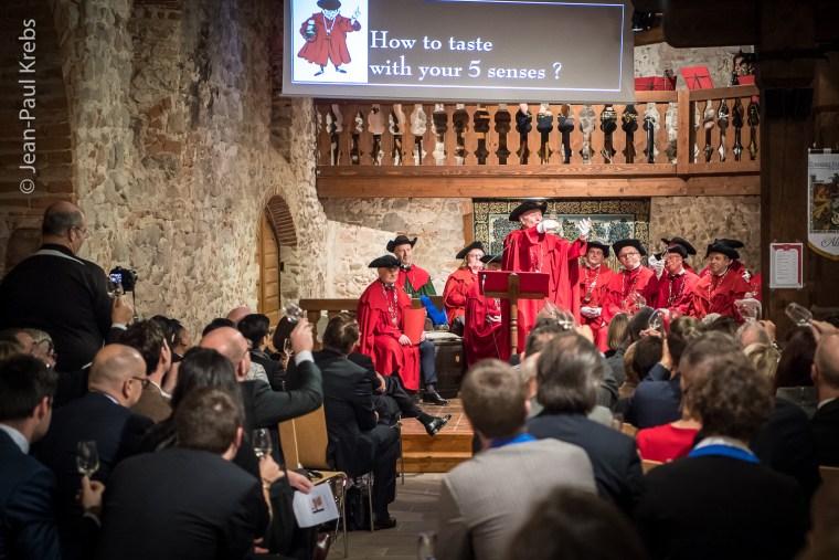 Kientzheim Confrérie St Etienne d'Alsace, rituel d'intronisation