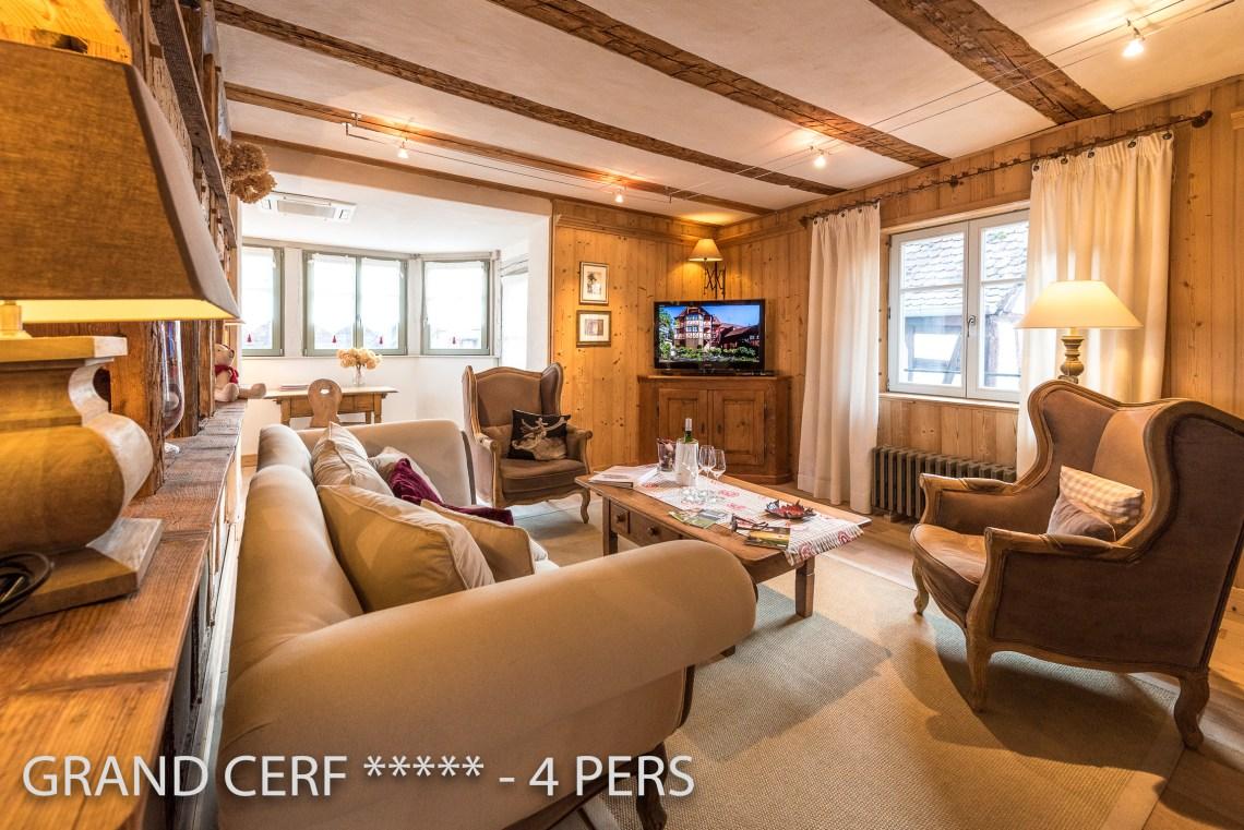 Grand Cerf à riquewihr - appartement 5 étoiles vue sur le salon