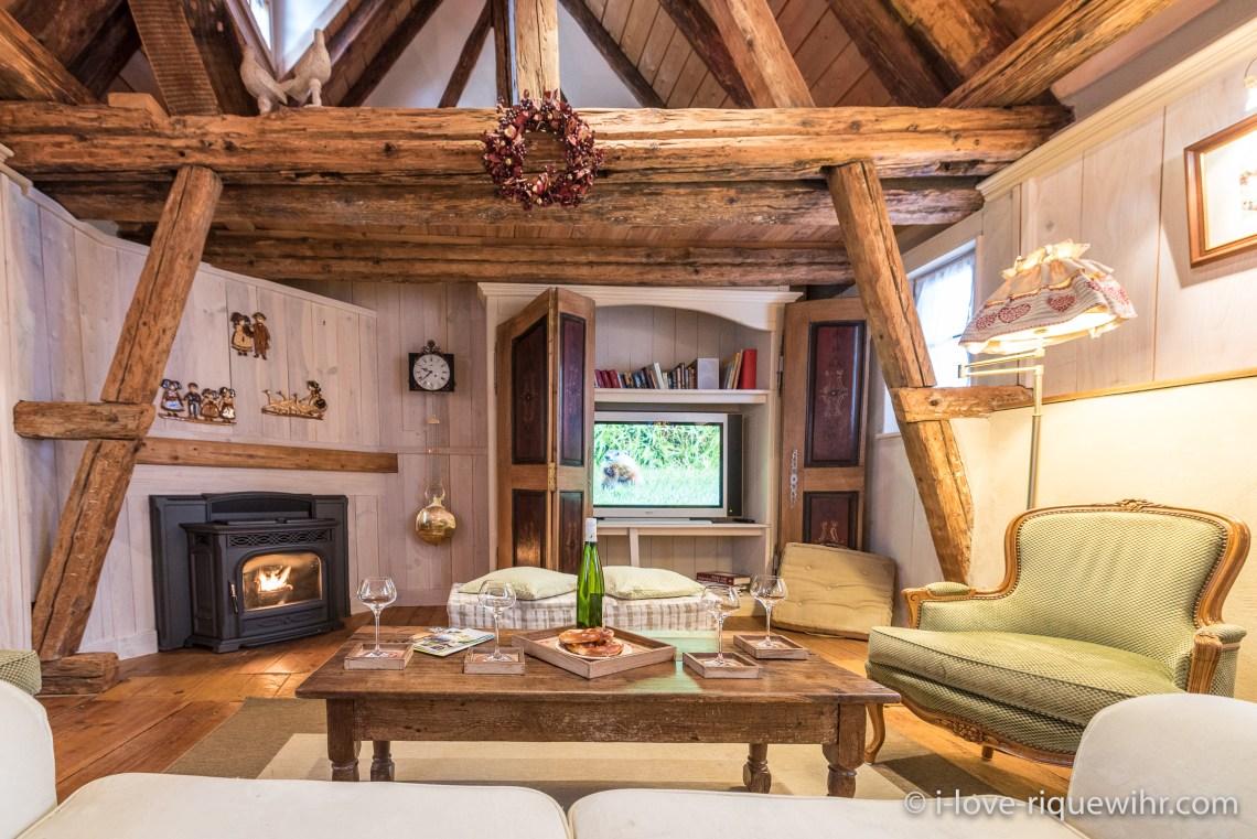 La Colombier à riquewihr - appartement 5 étoiles le salon