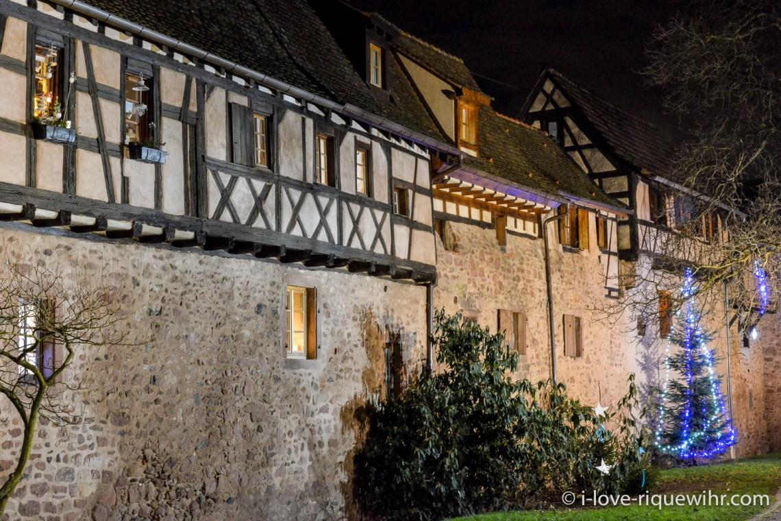 Gite de charme les remparts de Riquewihr en Alsace, le rempart de 1500.