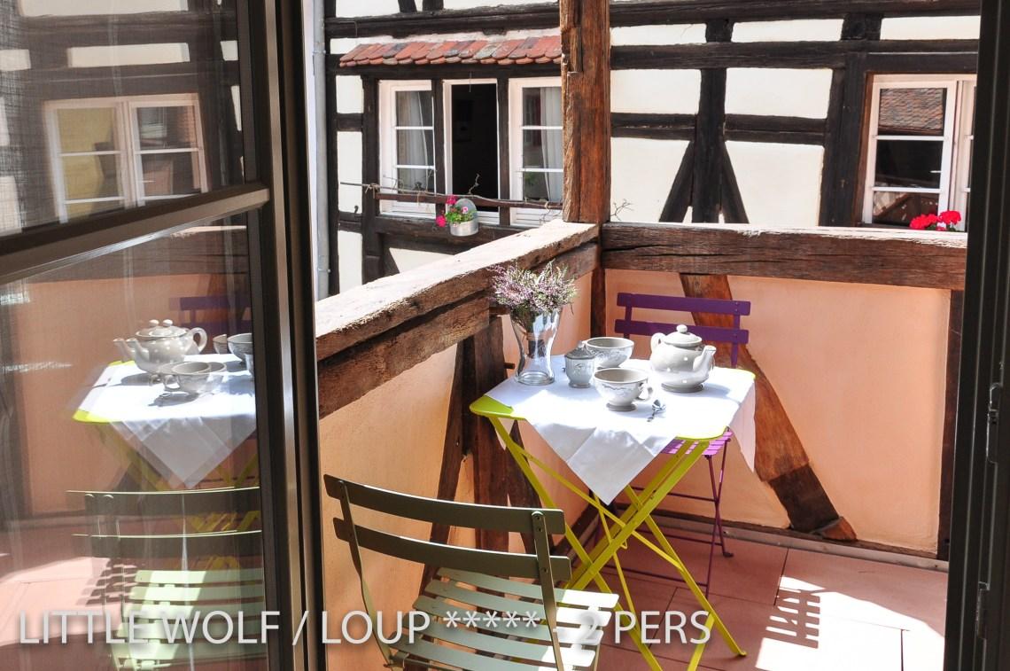 Le loup à riquewihr - appartement 5 étoiles la terrasse