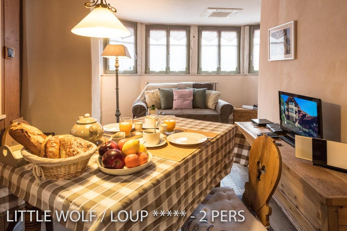 Le loup à riquewihr - appartement 5 étoiles l'espace repas