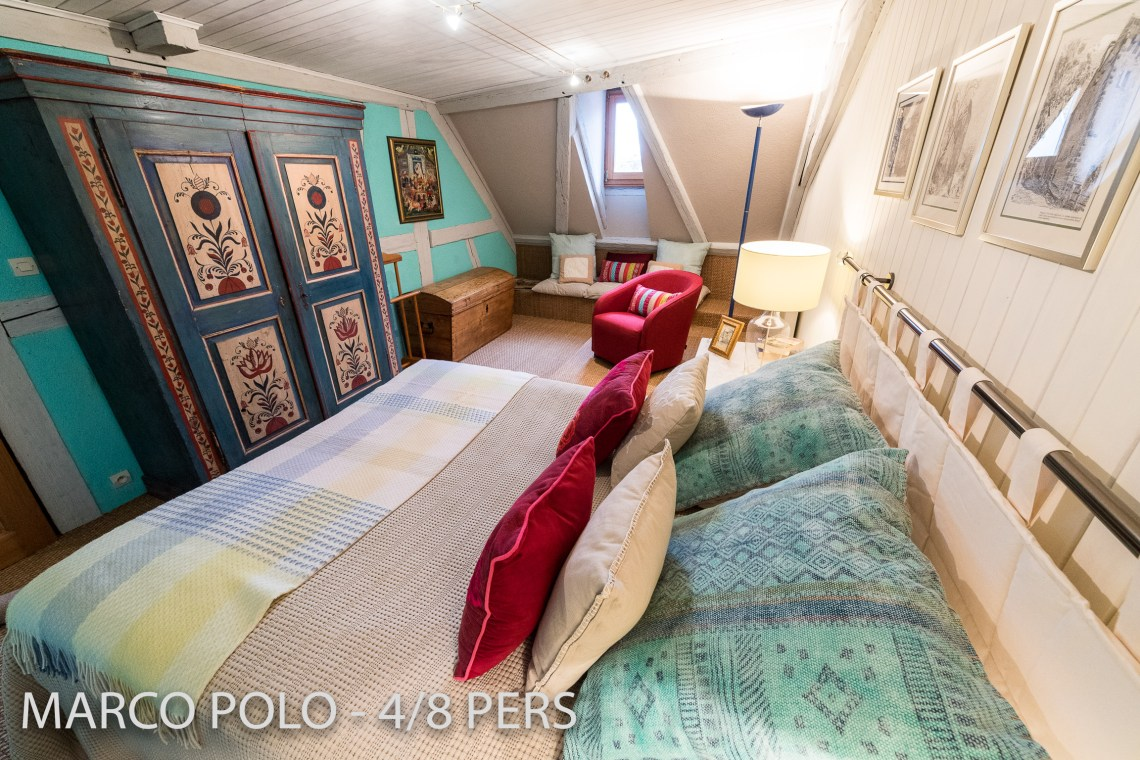 Le Marco Polo à riquewihr - appartement 5 étoiles le lit