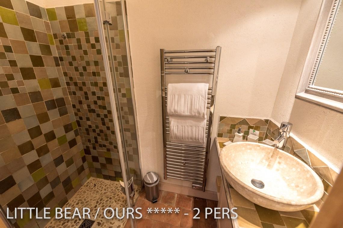 L'ours à riquewihr - appartement 5 étoiles vue de la salle de bain