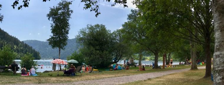 Pique-nique et baignade au lac de Longemer